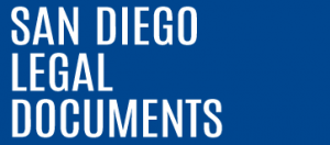 San Diego Legal Documents